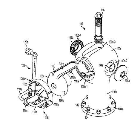 Locking Fire Hydrant Design Patent