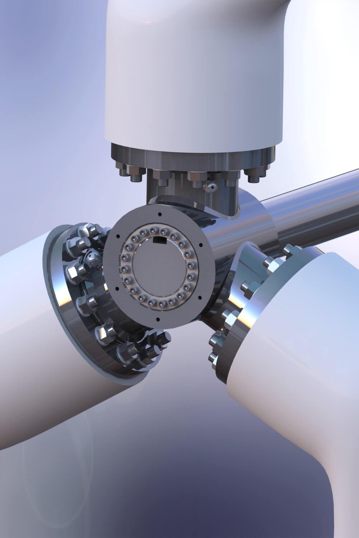 Rotor hub with blades