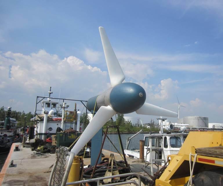 in water test turbine deployment